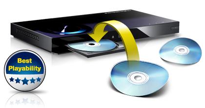 پخش عالی بدون توجه به خراش، لکه و تاب های دیسک.