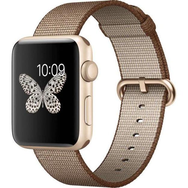 ساعت هوشمند اپل واچ 2 مدل - 42MM GOLD ALUMINUM CASE WITH COFFE CARAMEL BAND