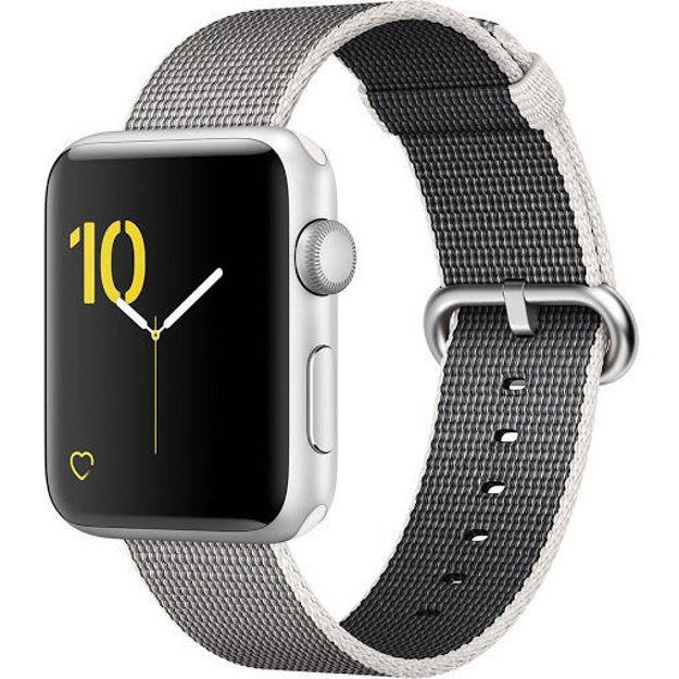 ساعت هوشمند اپل واچ 2 مدل - 42MM SILVER ALUMINUM CASE WITH PEARL WOVEN NYLON