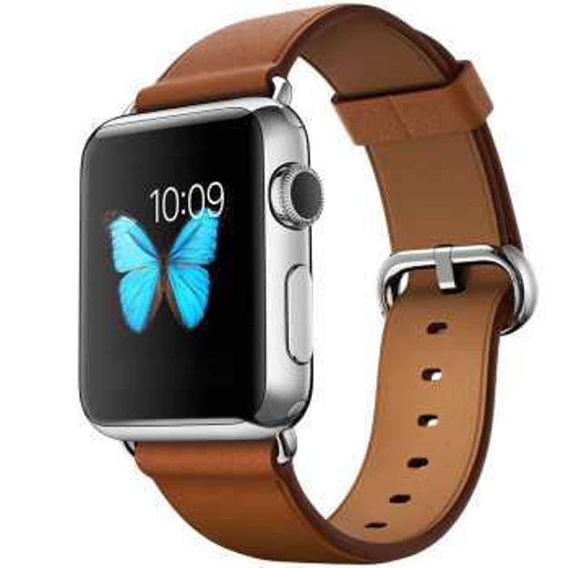 ساعت هوشمند اپل واچ 2 مدل - 42MM STEEL CASE WITH SADDLE BROWN CLASSIC BUCKLE