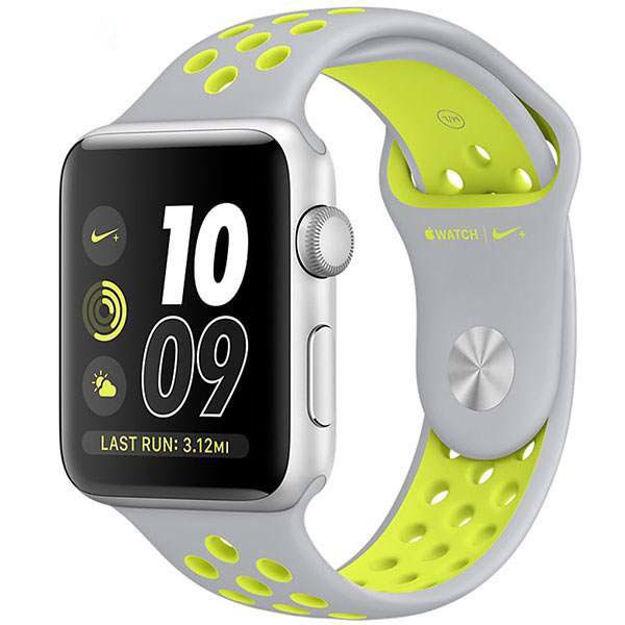 ساعت هوشمند اپل واچ 2 مدل - NIKE PLUS 42MM SILVER WITH SILVER VOLT BAND