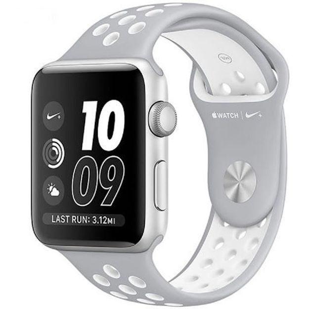 ساعت هوشمند اپل واچ 2 مدل - NIKE PLUS 42MM SILVER WITH SILVER/WHITE BAND