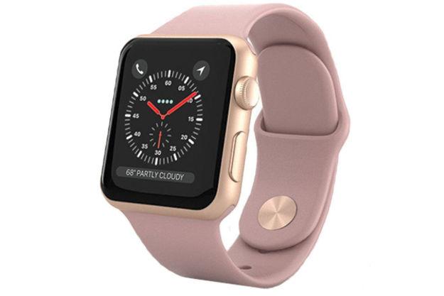 ساعت هوشمند اپل واچ 3 مدل - 38MM GOLD ALUMINUM CASE WITH PINK SAND SPORT BAND