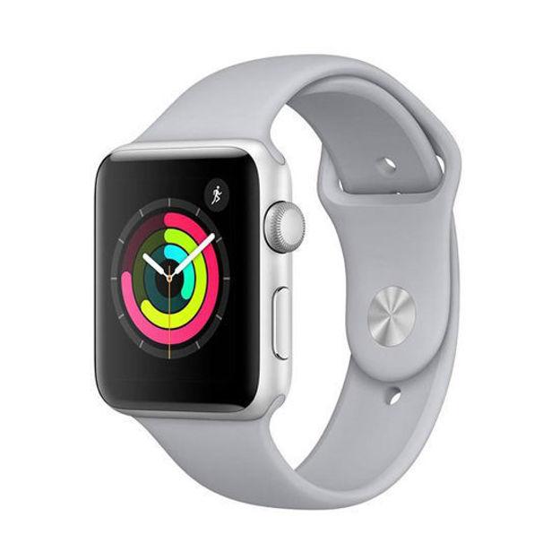 ساعت هوشمند اپل واچ 3 مدل - 42MM SILVER ALUMINUM CASE WITH FOG SPORT BAND