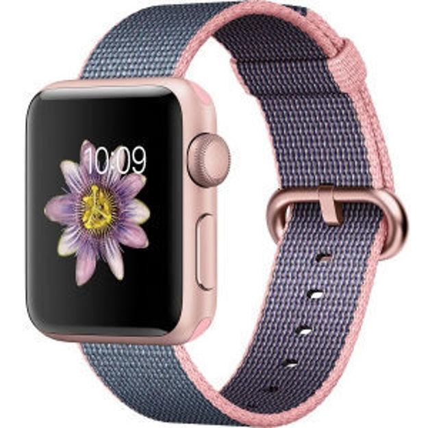 ساعت هوشمند اپل واچ 2 مدل - 38MM ROSE GOLD ALUMINUM CASE WITH WOVEN NYLON