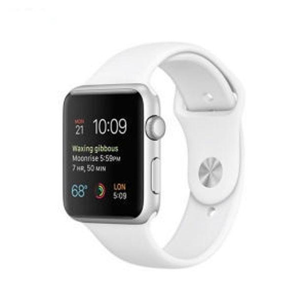 ساعت مچي هوشمند اپل واچ مدل - 42MM SILVER ALUMINUM CASE WITH SPORT BAND