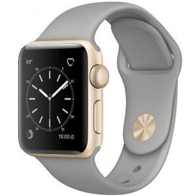ساعت هوشمند اپل واچ مدل - 38MM GOLD ALUMINIUM CASE WITH CONCRETE SPORT BAND