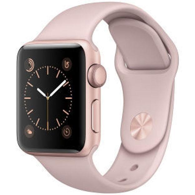 ساعت هوشمند اپل واچ مدل - 38MM ROSE GOLD CASE WITH PINK SAND BAND